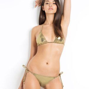 L'Agent by AP SEVILLA Bikini Set NWT Gold
